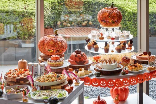 色鮮やかなかぼちゃ尽くしのハロウィン アフタヌーンティー ブッフェ