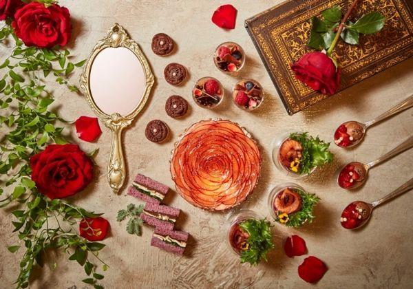 『美女と野獣』がテーマのチョコレートアフタヌーンブッフェ