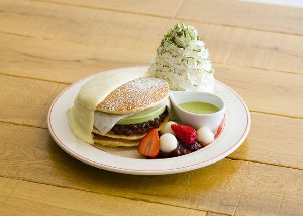 京都四条店限定『涼味広がる、宇治抹茶アイスパンケーキ』1,500円(税別)