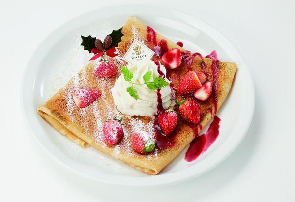 苺とベリー、純生クリームのキャラメリゼクレップ 1,180円(税抜)