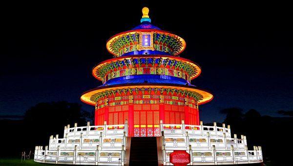 世界遺産『天壇』を原寸大(直径18メートル、高さ12メートル)で再現