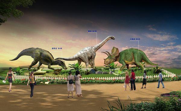 長さ4~7mにも及ぶ迫力ある12体の恐竜
