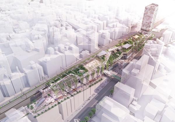 新たな歩行者ネットワークと文化の情報発信拠点を目指す『MIYASHITA PARK』