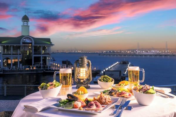 ヨコハマグランドインターコンチネンタルホテル「海の見えるビアガーデン はまビア!」