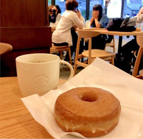 スターバックス・コーヒー 山科駅前店:シュガードーナツ、ドリップコーヒー