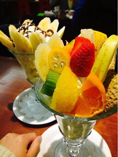 Fruit Garden 新SUN新鮮なフルーツパフェ❤︎フルーツ盛り盛り🍴