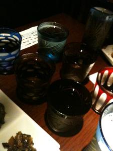 庫裏。日本酒飲み比べ中。